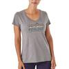 Patagonia Femme Fitz Roy t-shirt Dames grijs